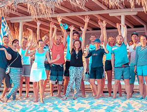 Die Crew freut sich über den Urlaub mit sailwithus