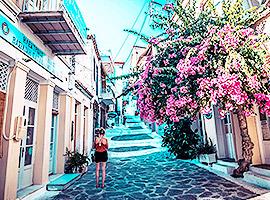 Verwunschene Gassen in Griechenland bestauenen l sailwithus