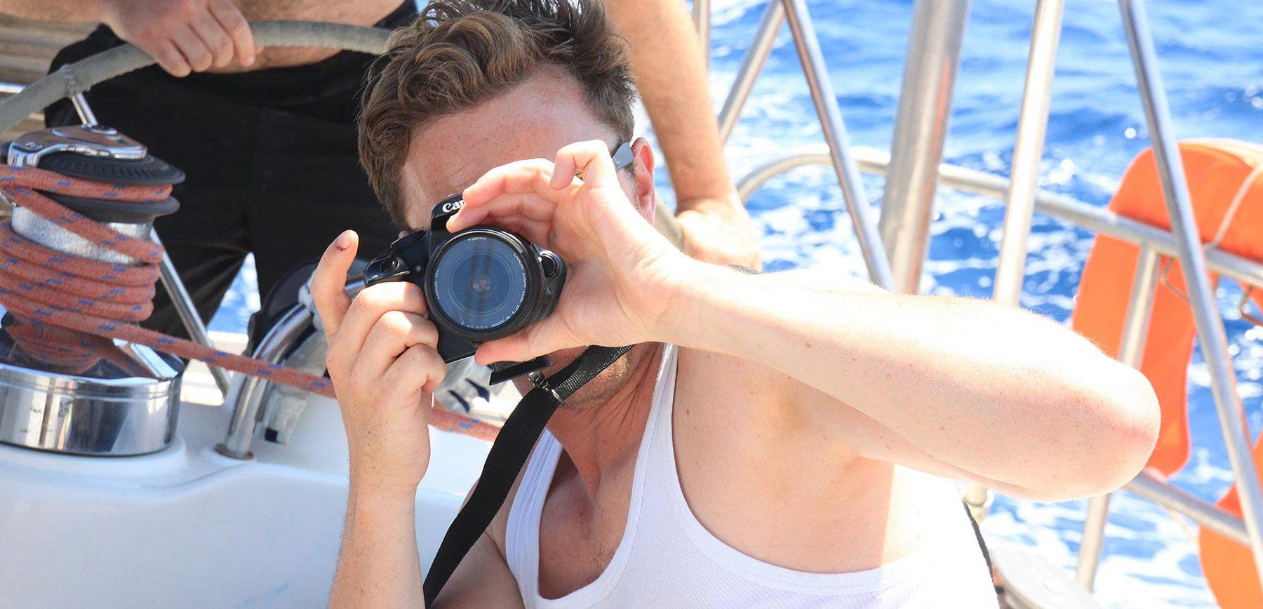 im Urlaub schöne Fotos machen beim Segelurlaub mit sailwithus