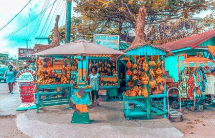 Straßenmarkt in der Karibik entdecken, lokale Handwerkskunst und Köstlichkeiten