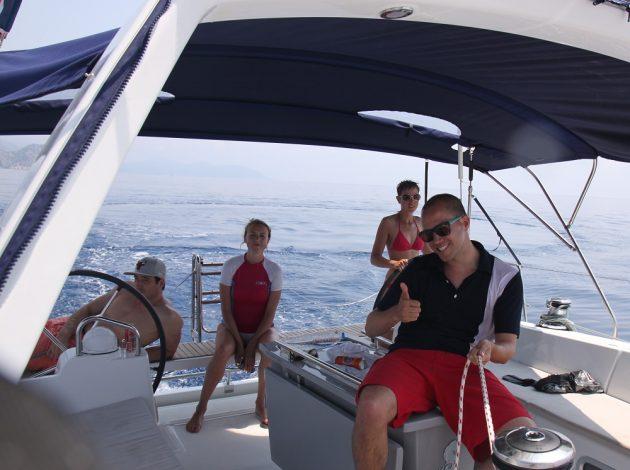 Spaß an Bord der Segelyacht im Mittelmeer Urlaub mit sailwithus