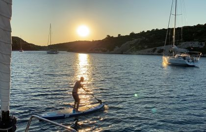 Wassersport in der Abendsonne ist einfach toll l sailwithus
