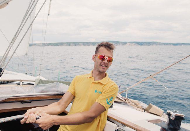 Unser Skipper Simon in Action